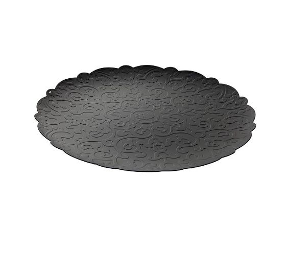 Alessi Dressed black round tray MW07 B