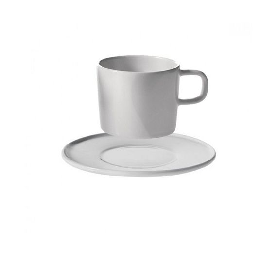 ALESSI Platebowlcup set 4saucer and moka cup AJM28