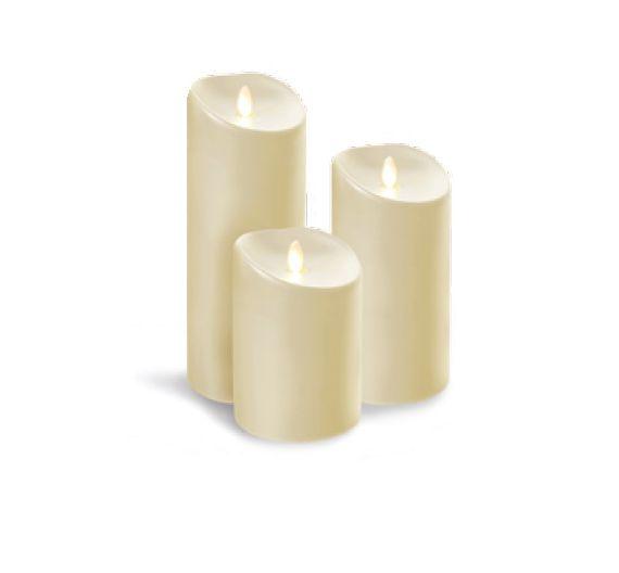 Scherzer luminara ivory candle