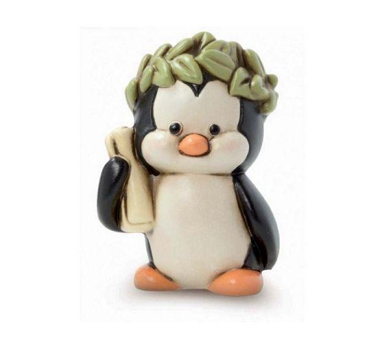 Laurea: Pinguino con Corona d'alloro Egan