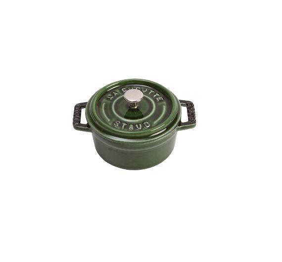 Staub Casserole Cocotte round green cast iron