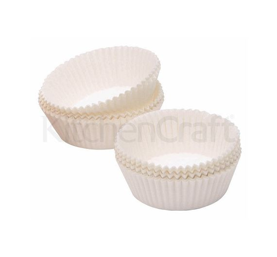 KitchenCraft 75 pirottini carta bianchi per muffin
