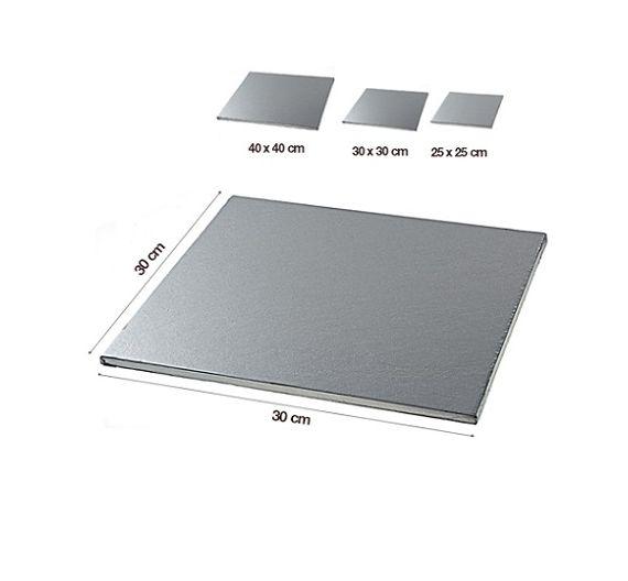 Silikomart Sottotorta quadrato foglio argentato