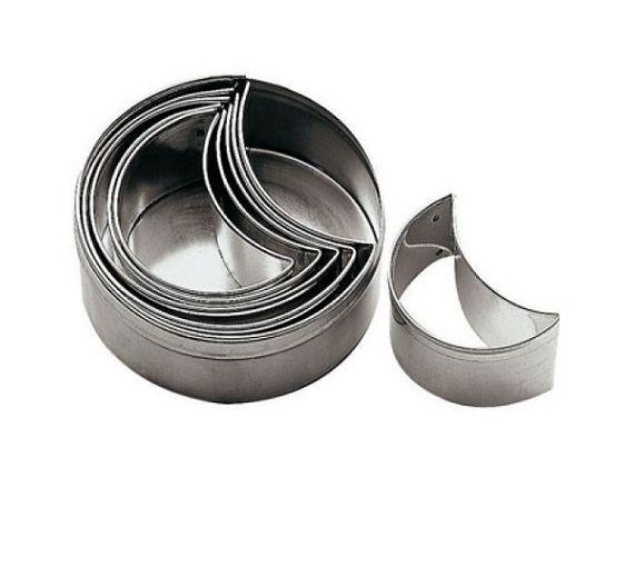 Paderno set 6 stainless steel half moon cutter art. 47312-10