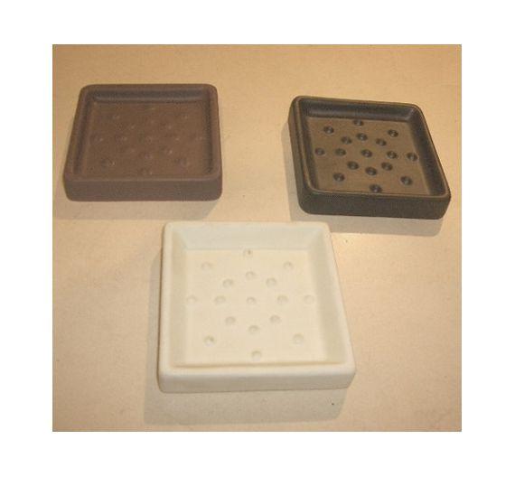 Marmores Quadra Mat porta sapone ceramica appoggio