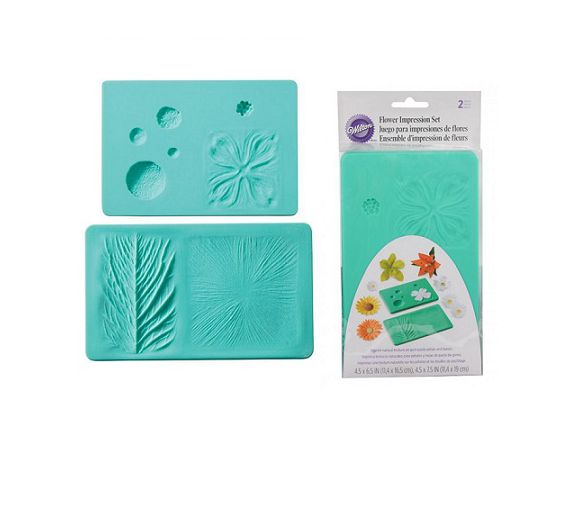 Wilton set 2 veiners silicone leaf