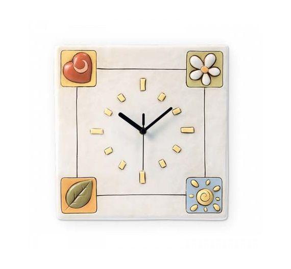 Egan Simboli orologio quadrato cm 26