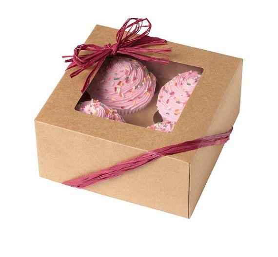 Decora 3 scatole Wilton per 4 cupcakes in cartoncino