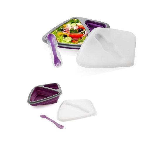 Brandani lunch box silicone lilla