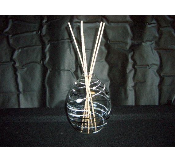 V.G. sfera tirata diffusore in vetro righe bomboniera
