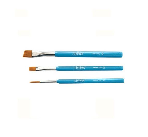 Decora 3 cake decorating brushes