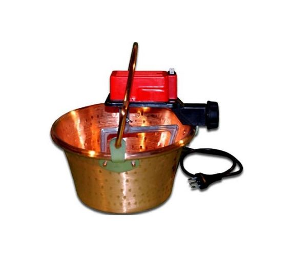 Paiolo copper top d. 26 with electric motor for polenta