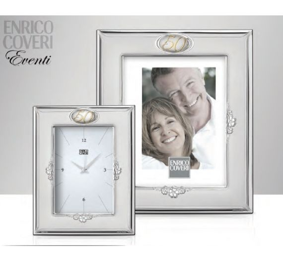 Enrico Coveri portafoto argento 50° anniversario matrimonio