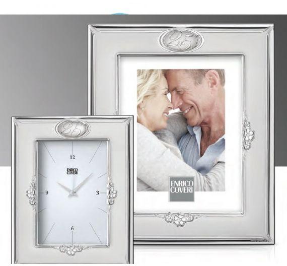 Enrico Coveri portafoto argento 25° anniversario matrimonio