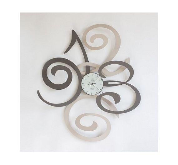 Arti e Mestieri orologio da parete Filomena nocciola