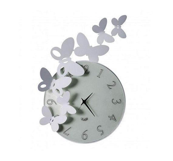 Arti e Mestieri orologio da parete Butterfly bianco