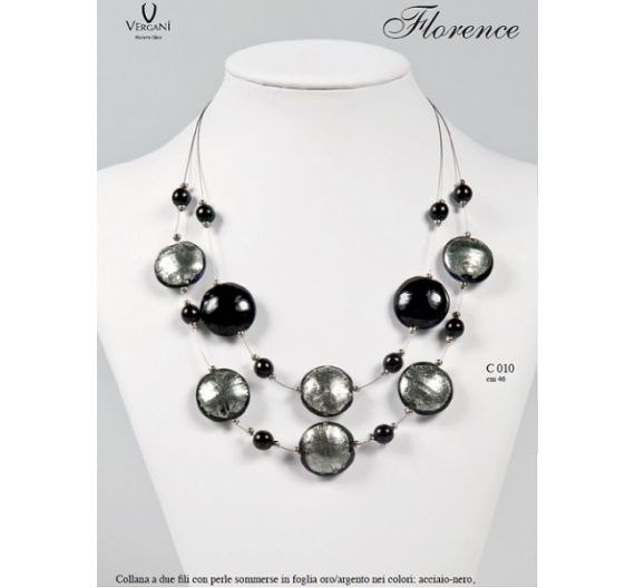 Vergani Collana Florence argento bianco
