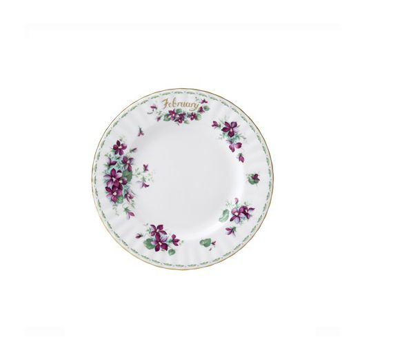 Royal Albert dessert plate 16 cm Flower of the Month