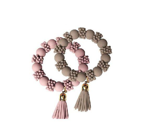 Baci Milano elastic Taupe bracelet Be Fashion