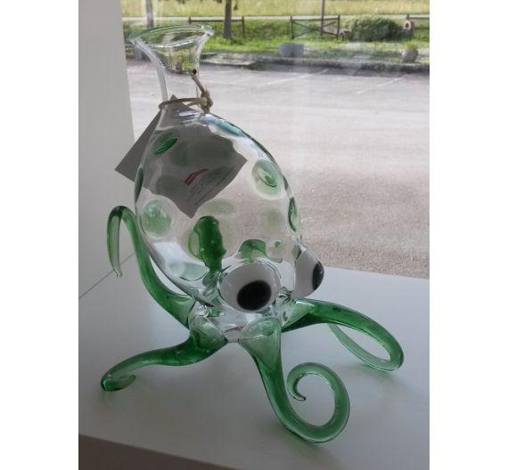 Massimo Lunardon decanter Octopus verde