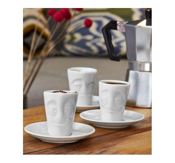 Tazza caffè con piattino 100 ml Tassen Happy