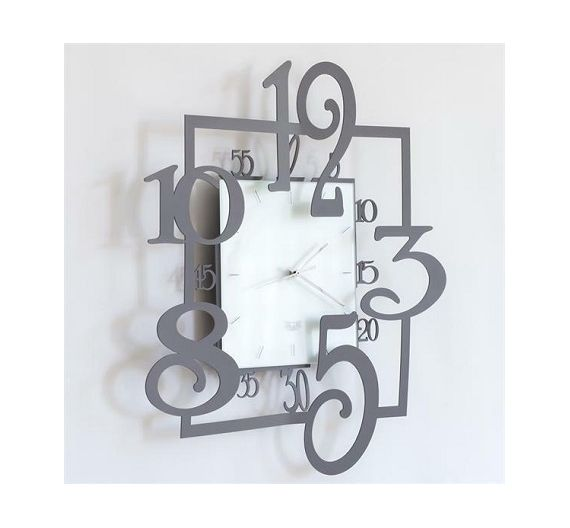 Arti e Mestieri orologio da parete Amos ardesia