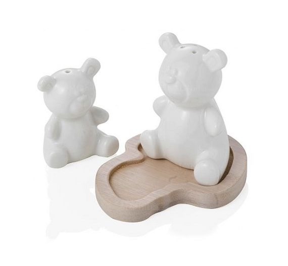 Brandani bear porcelain salt and pepper set