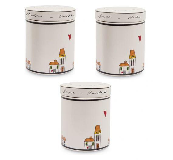 Egan Le Casette set jars sugar, coffee, salt
