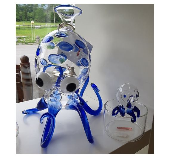 Massimo Lunardon decanter blue Octopus