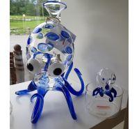 Massimo Lunardon decanter blue Octopus