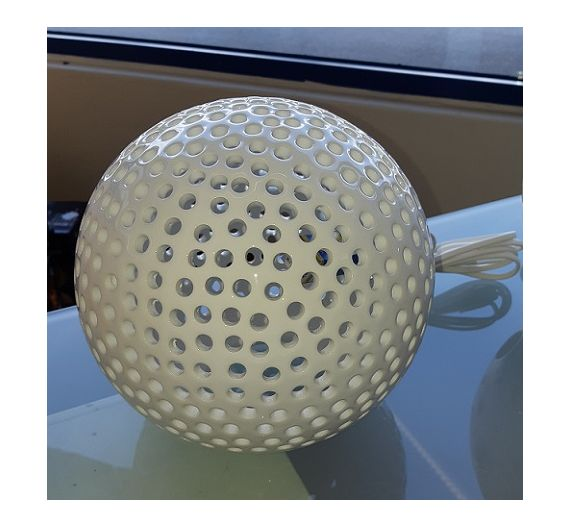 Bassano ceramic pierced sphere lamp