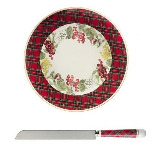 Brandani Sottobosco set piatto e coltello torta