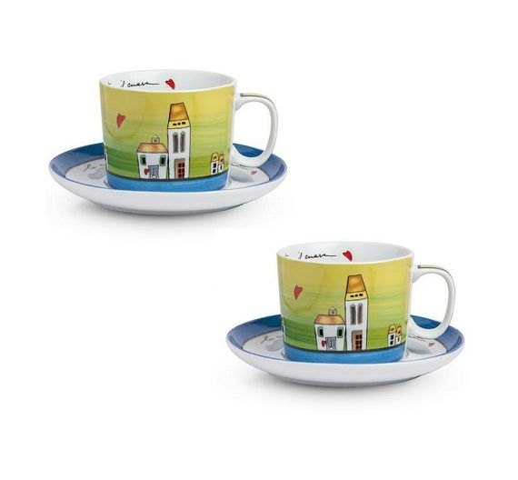 Egan Le Casette set 2 mini mug and tray