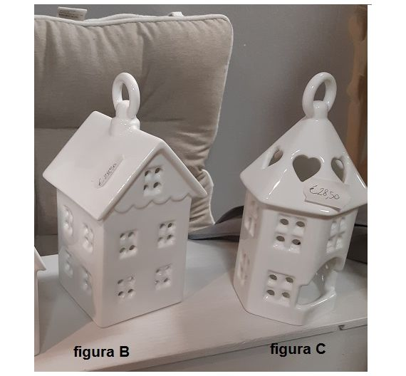 House lantern for t-light Bassano ceramics