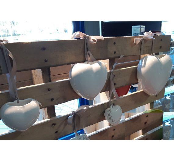 Umidificatore Cuore bianco ceramiche Bassano