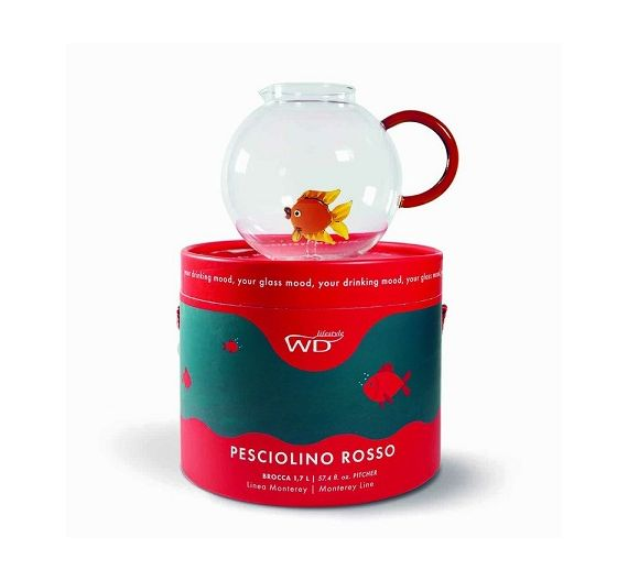Wd lifestyle red fish pitcher