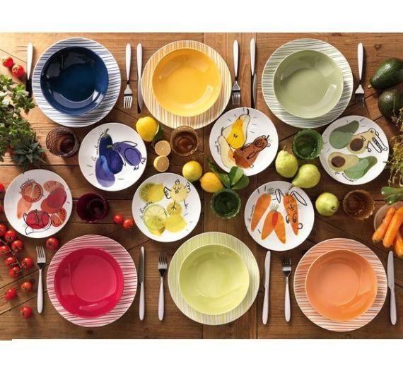 Brandani set 18 plates Allegra Combriccola