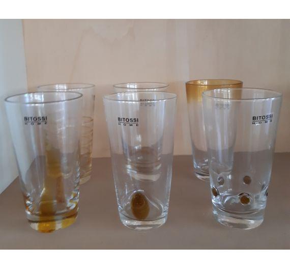 Bitossi long drink glasses