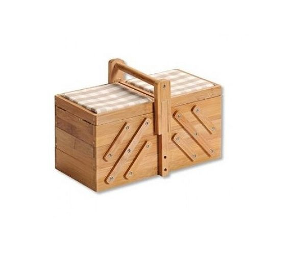 Kesper cestino per cucito in legno bamboo