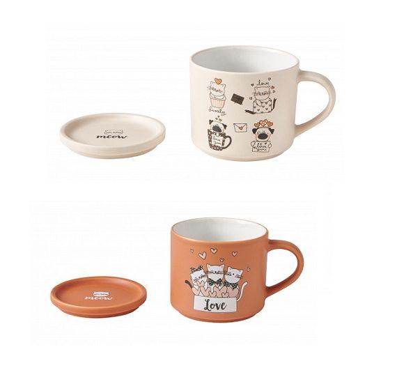 Brandani Cats set two mugs