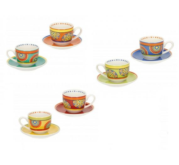 Brandani 6 coffee cups Mediterranea