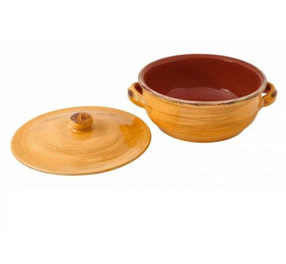 Brandani fire clay soucepan with lid
