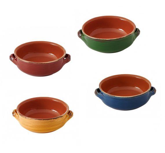 Brandani set 4 earthenware soucepans cm 14