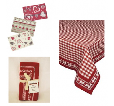 tablecloths and napkins
